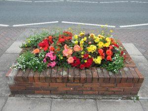 Brick planters 8