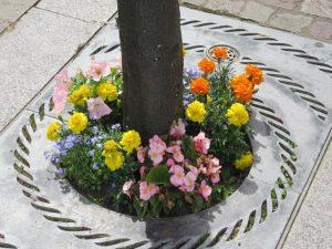 Tree base flowers 9